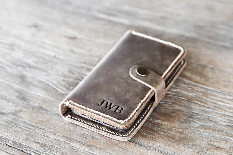 Leather iPhone Wallet Case with Closure [Free Shipping][Pick Your Device] 1