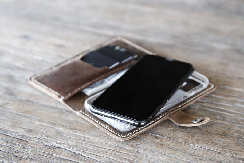 Leather iPhone Wallet Case with Closure [Free Shipping][Pick Your Device] 3
