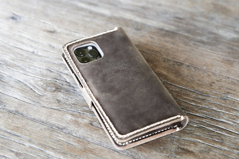Leather iPhone Wallet Case with Closure [Free Shipping][Pick Your Device] 5