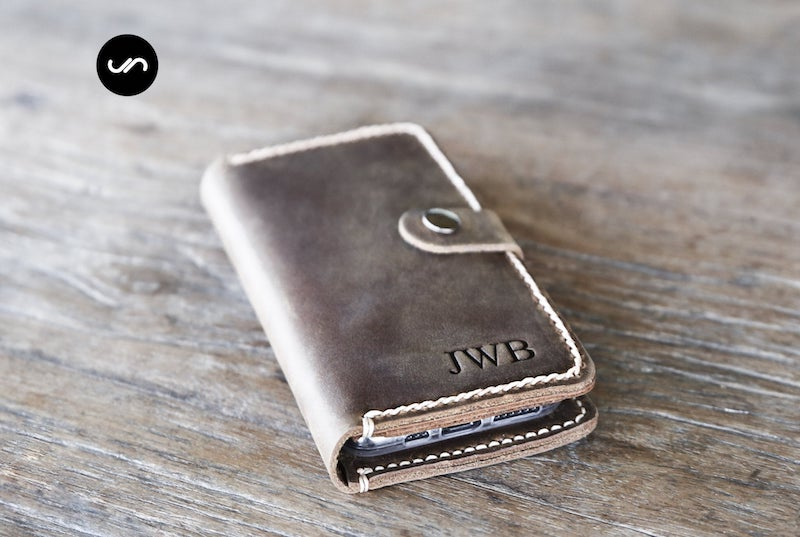 Leather iPhone Wallet Case with Closure [Free Shipping][Pick Your Device] 6