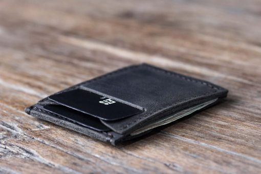 black minimalist wallet