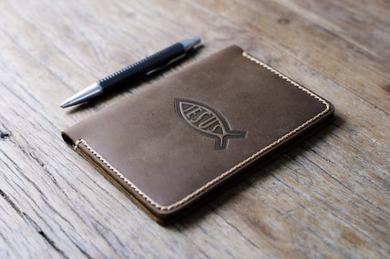 Custom Leather Notebook Cover