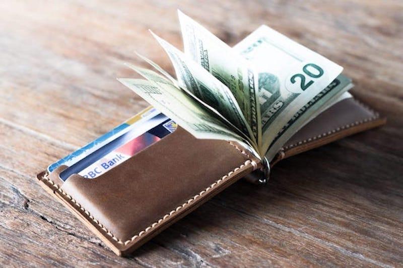 Leather Money Clip Wallet 1