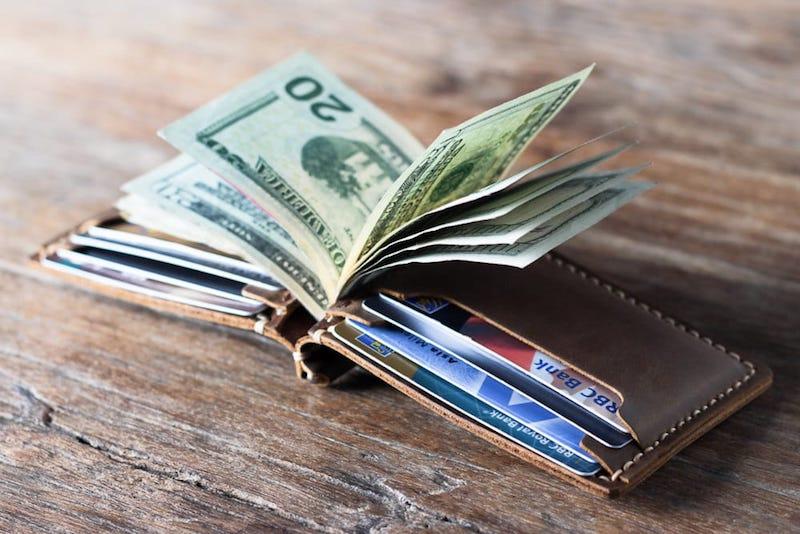 Leather Money Clip Wallet 2