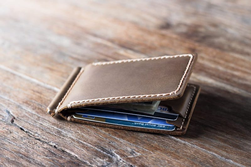 Leather Money Clip Wallet 4