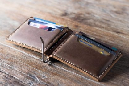 c767dd5c29d6 Leather Money Clip Wallet [Personalized] [Handmade] [Free Shipping]
