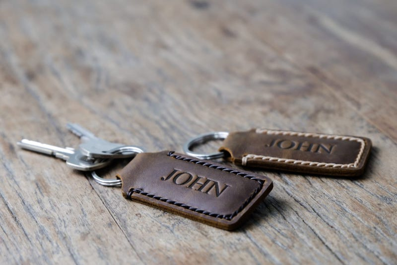 Personalized Leather Keychain 4