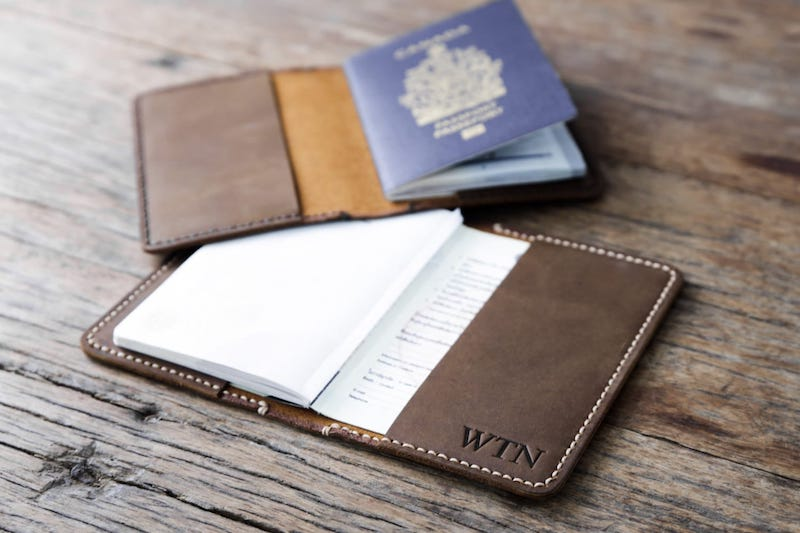Personalized Leather Passport Cover 3