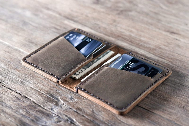 Personalized Handmade Leather Wallet [Card Holder][Free Shipping] 2