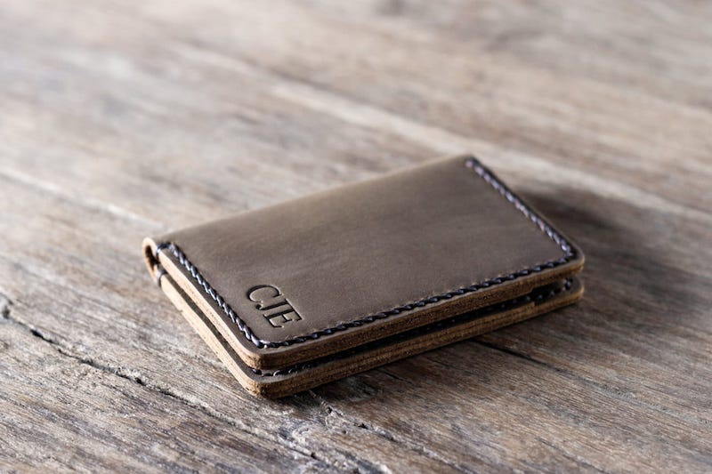 Personalized Handmade Leather Wallet [Card Holder][Free Shipping] 3