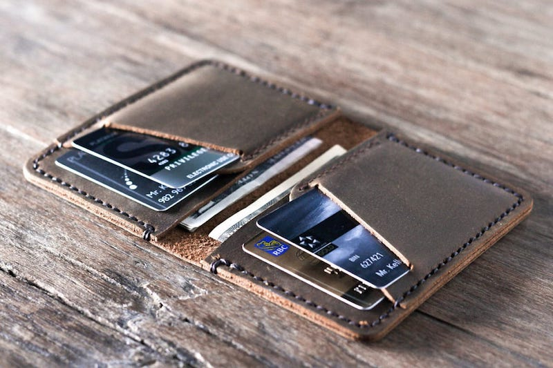 Personalized Handmade Leather Wallet [Card Holder][Free Shipping] 4
