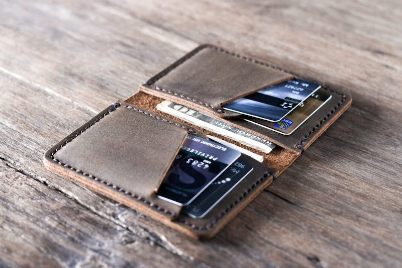 Personalized Handmade Leather Wallet [Card Holder][Free Shipping] 5