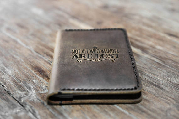 not all who wander are lost passport cover