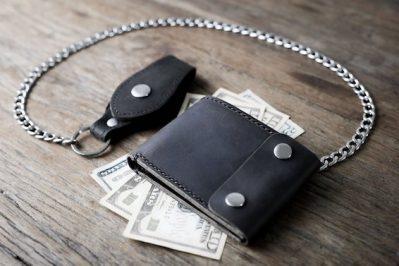 Black Biker Wallet