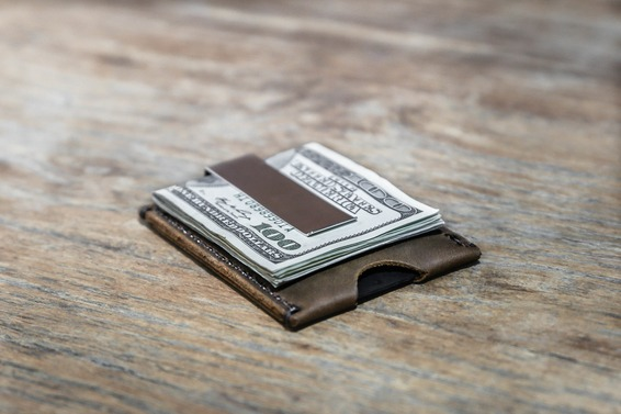Minimalist Money Clip Wallet Handmade Free Shipping