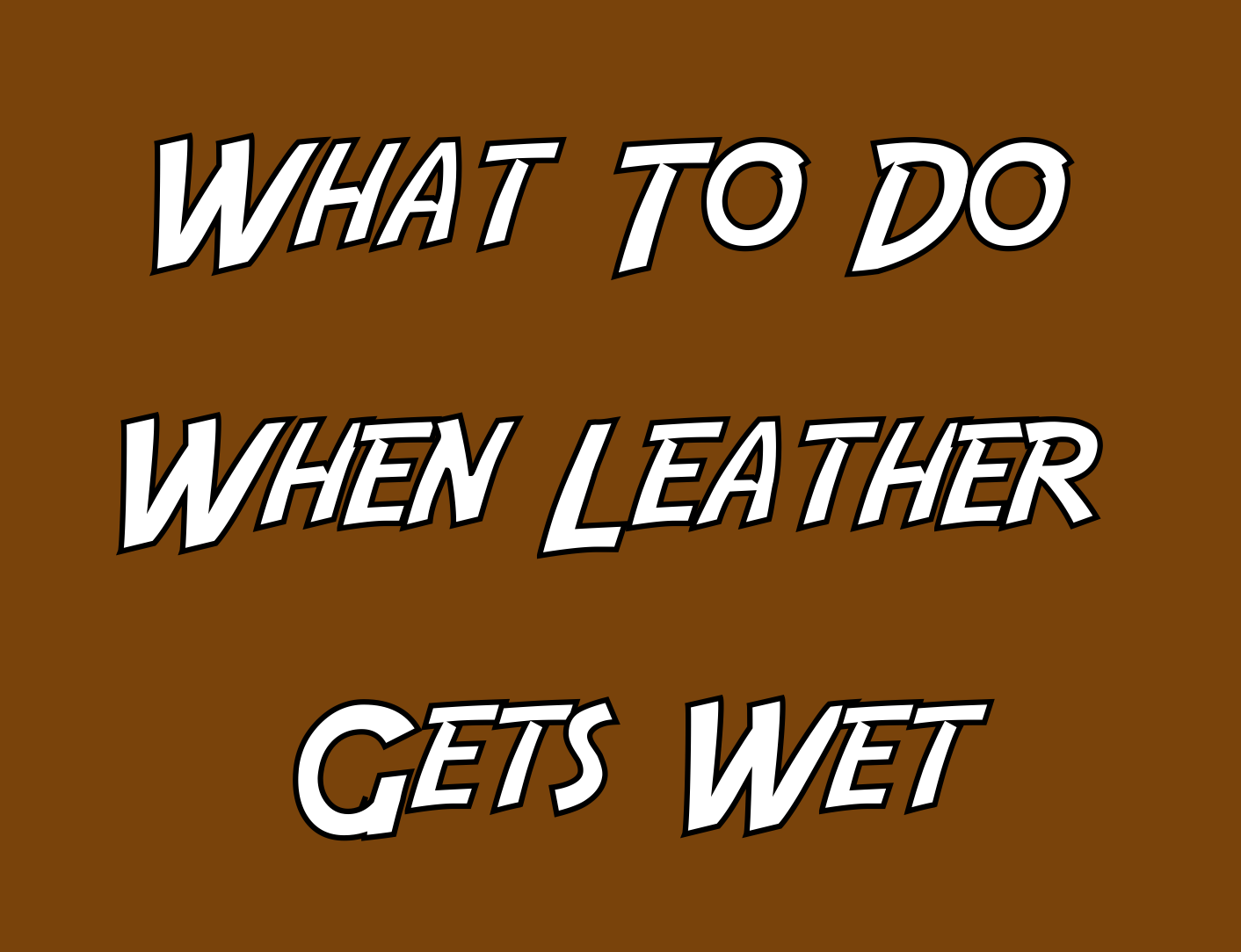 Leather Wet