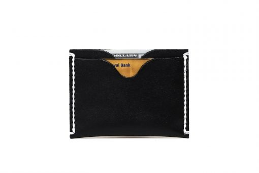 Black Front Pocket Wallet | Vegetable Chrome Leather