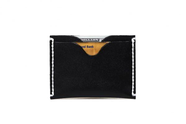 Black Front Pocket Wallet | Vegetable Chrome Leather