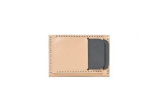 Front Pocket Wallet Vegetable Chrome Natural 061