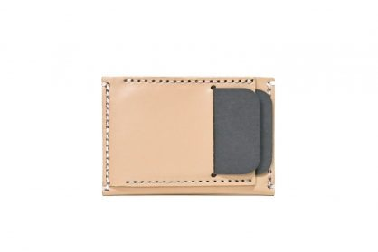 Front Pocket Wallet Vegetable Chrome Natural