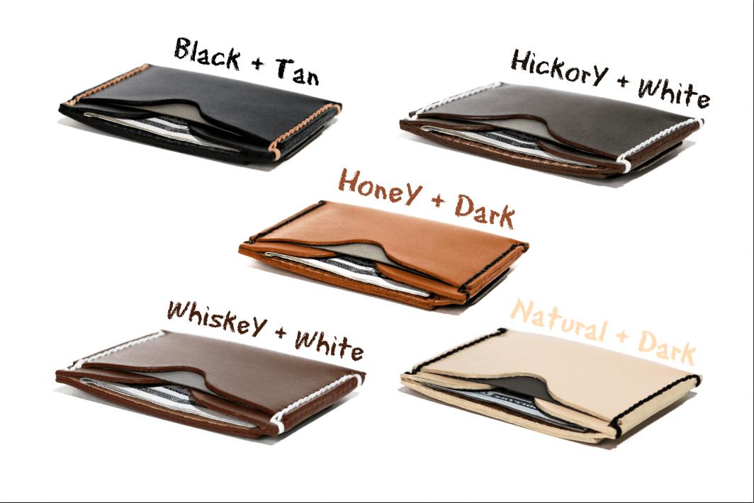 Minimalist Money Clip Wallet Handmade Leather Super Slim