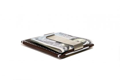 Minimalist Money Clip Wallet Vegetable Chrome Hickory White