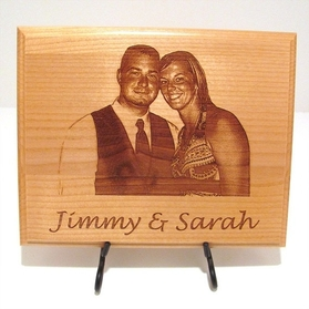 laser engraved wedding sign