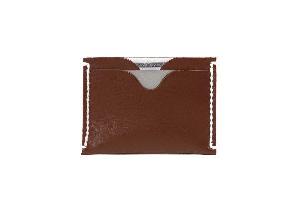 minimalist wallet whiskey brown