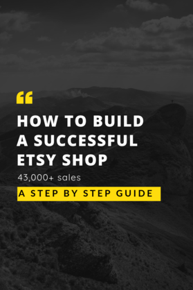 how to build a successful etsy shop
