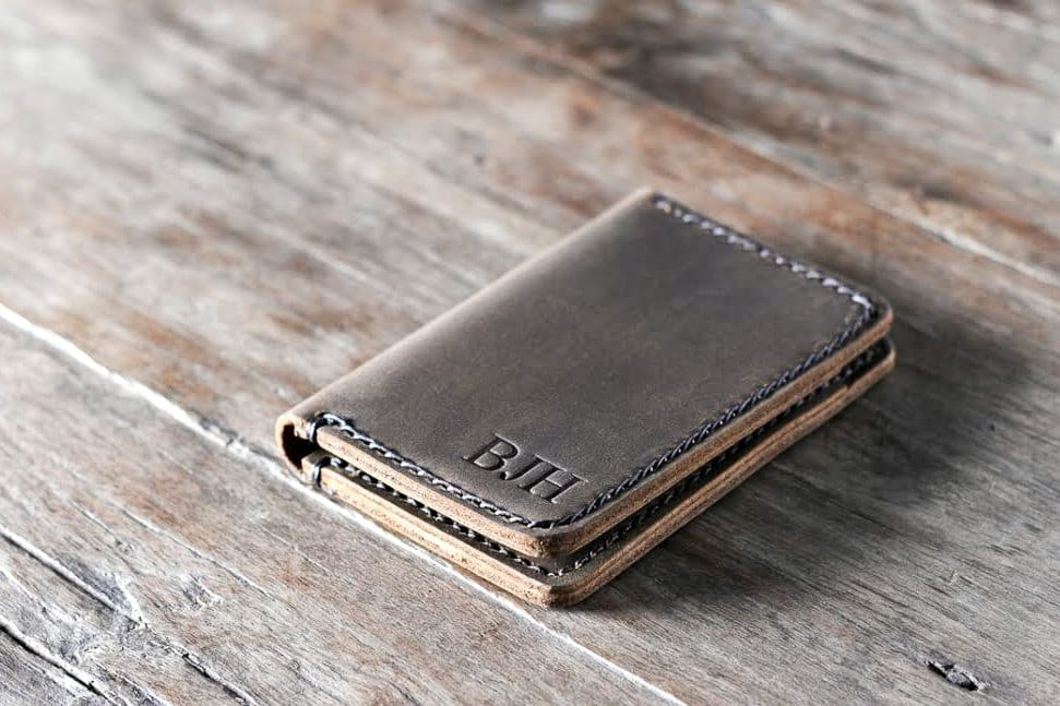 branding a handmade leather wallet