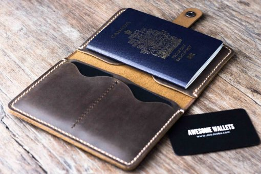 Personalized Passport Wallet with Snap Closure