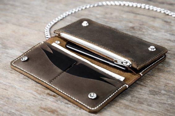 Leather Biker Wallet (Long) 1