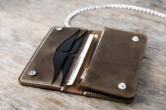 Leather Biker Wallet (Long) 5