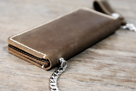 Leather Biker Wallet (Long) 6