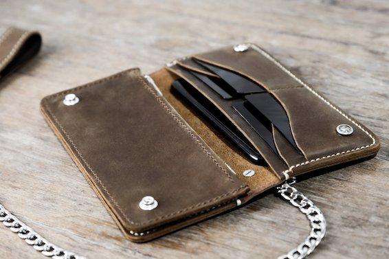 Leather Biker Wallet (Long) 7