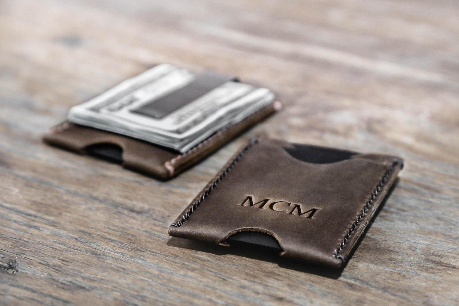 Minimalist Money Clip Wallet with Stainless Steel Clip