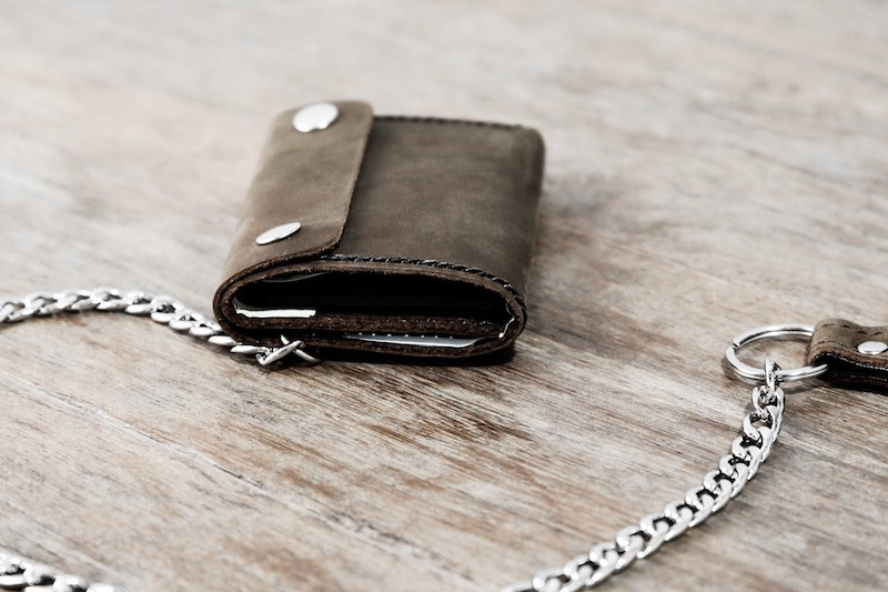 Trifold Wallet with Chain 3