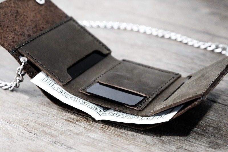 Trifold Wallet with Chain 6