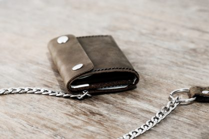 Trifold Wallet with Chain