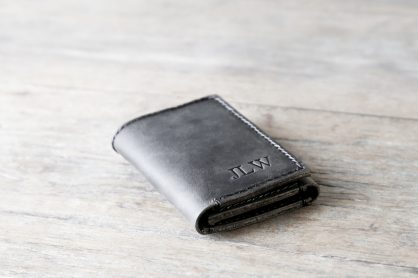2aa1b7c9816d Leather Trifold Wallet Personalized [Handmade] [Custom] [Free Shipping]