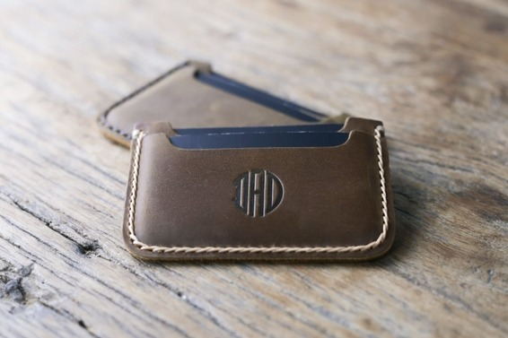 leather card holder sleeve