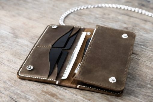 cash pocket for long biker wallet