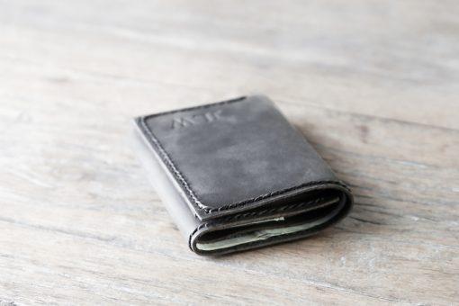 dark distressed leather