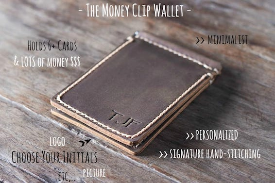 Vertical Money Clip Wallet