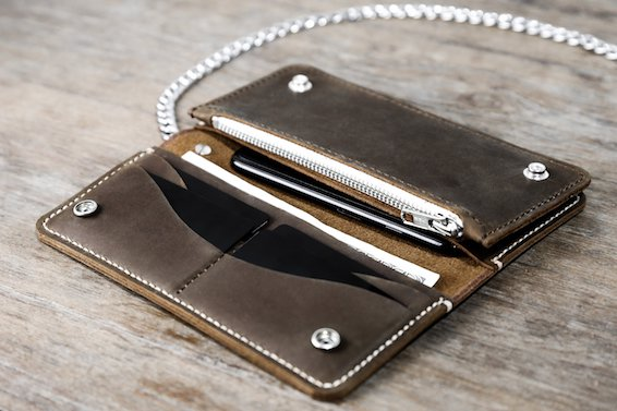 f0c50ae38a8f Mens Leather Chain Wallets - JooJoobs