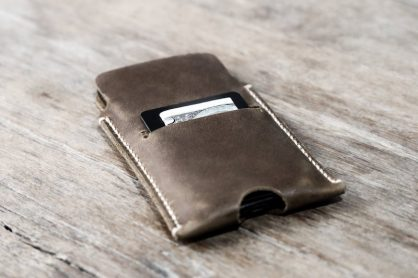 Leather iPhone Sleeve Case