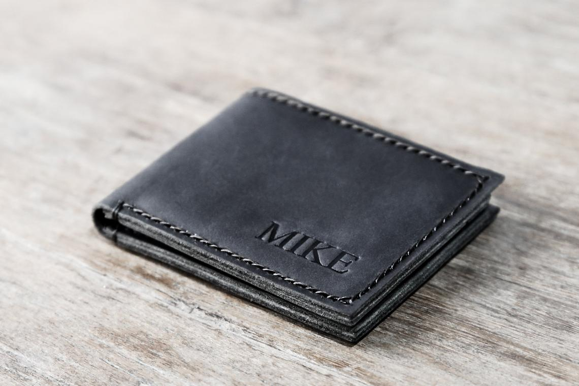 Dark Distressed Leather Wallet