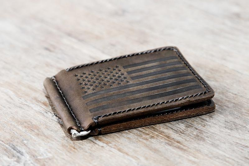 American Flag Money Clip Wallet