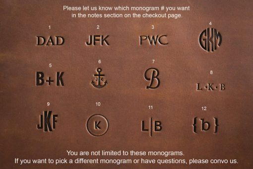 JooJoobs Wallets Monogram Options