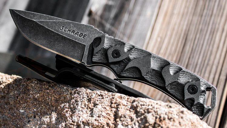 Schrade SCHF14 Drop-Point Fixed Blade Knife